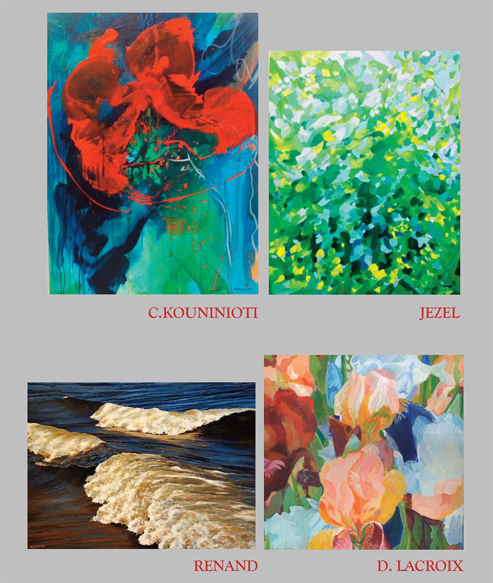 C. Kouninioti, Jezel, Renard, D. Lacroix - Peintures