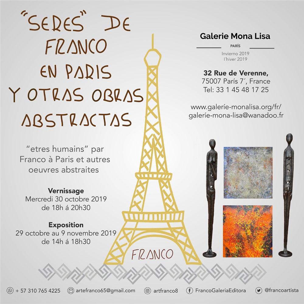 Serres De Franco En Paris Galerie Mona Lisa