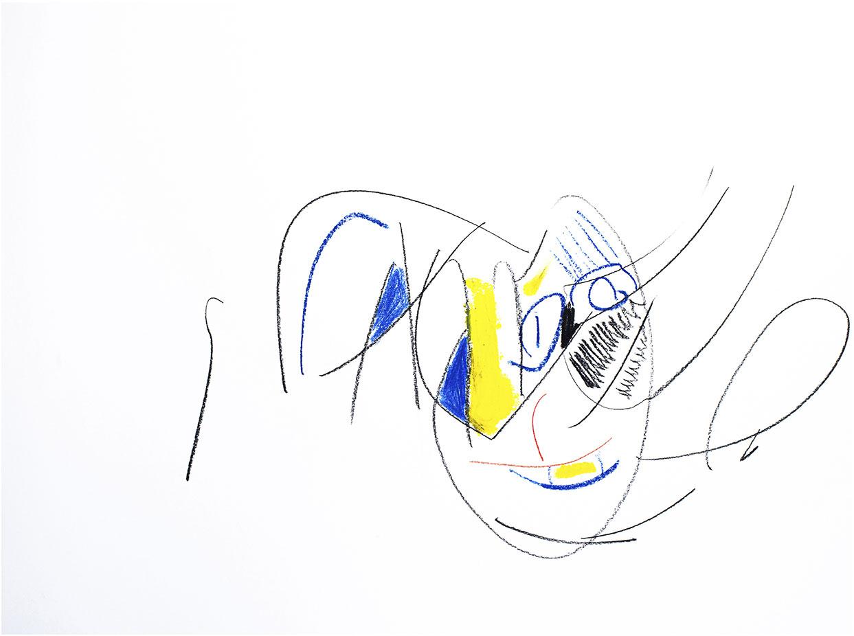 Dessin Ouverture 50x65 Pastel crayon noir