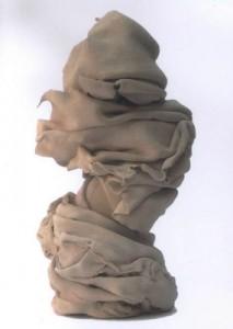 """Véronique Lagriffoul """"Mémories de plis 1"""" terre cuite pour bronze"""