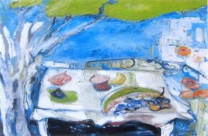 "Evelyne Widmaier ""La table de jardin"""