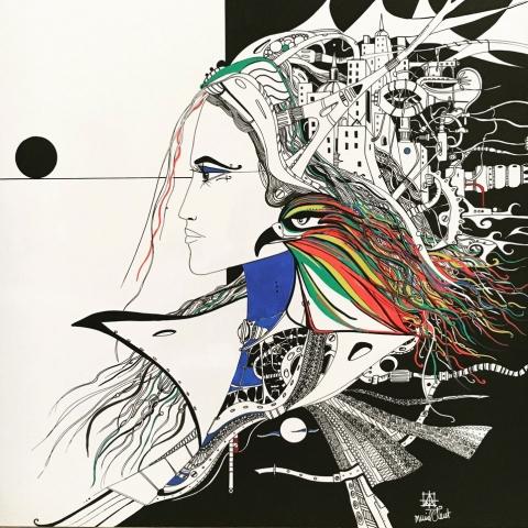 Muriel Claret, peintures