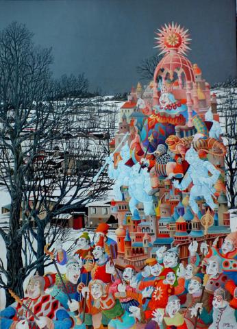 Jean-Claude Buisson - Peintures - Le dictateur100 X80 huile