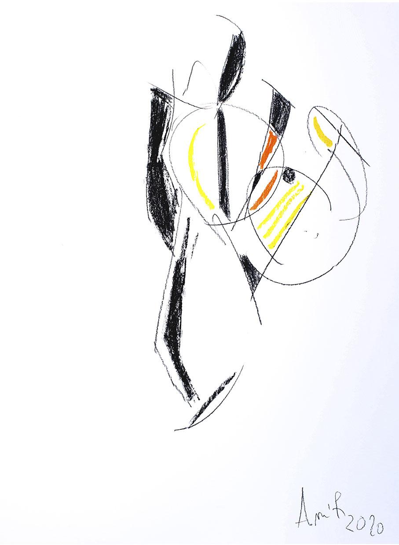 Dessin Decisif A 50x65 Pastel