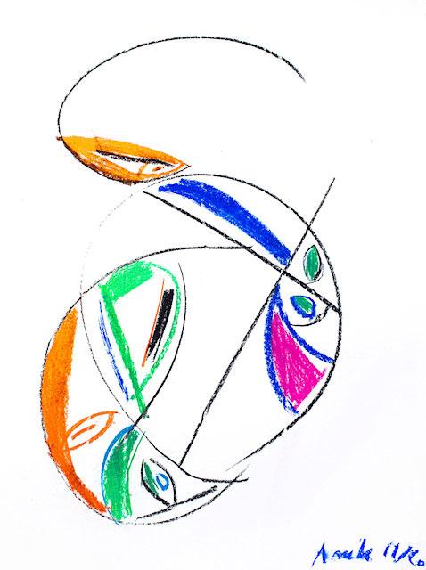 Dessin Party 50x65 pastel
